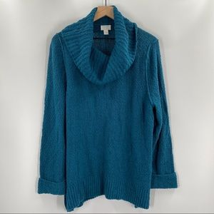 Caslon- Knit Cowl Neck Sweater With Cuff Sleeves